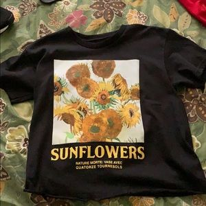 Tops - sunflower crop top